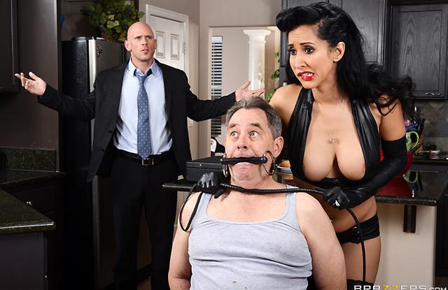 Brazzers - Латинка связала мужа и у него на глазах занялась сексом с любовником